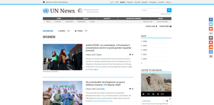 Women's Interest News Sites - UN News | Women