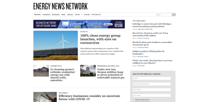 Top Environmental News Sites - Energy News Network