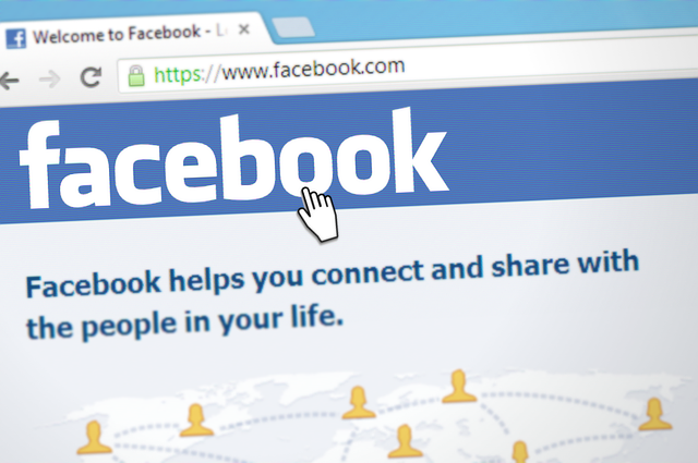 An image of the Facebook homepage