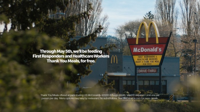 McDonald's offers Thank You Meals