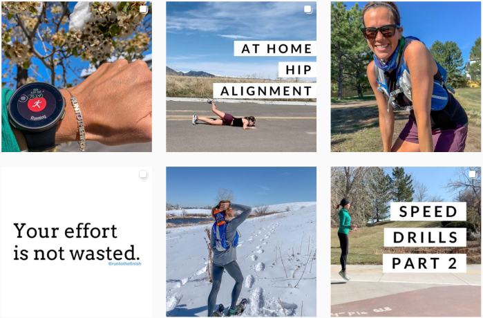 Running Blogs We Love - @runtothefinish on Instagram