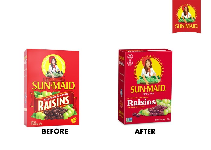 Sun-Maid Growers of California new packaging
