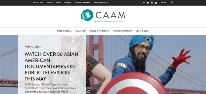 Center for Asian American Media (CAAM) homepage