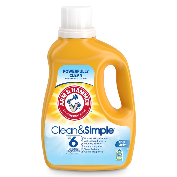 Arm & Hammer Clean & Simple laundry detergent