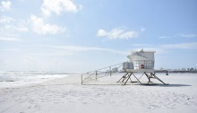 Lifeguard tower at the beach
