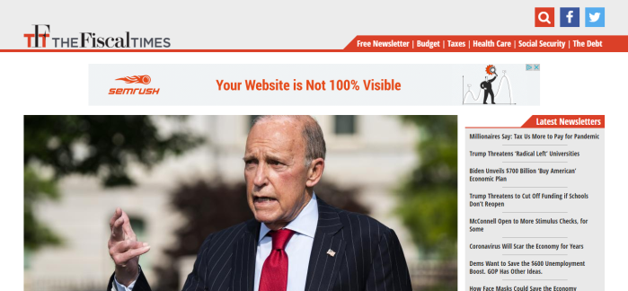 The Fiscal Times homepage