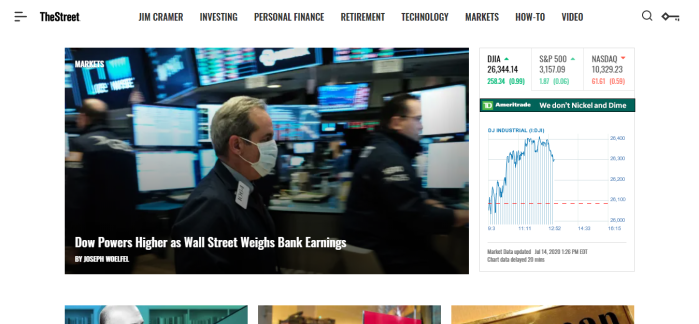 TheStreet homepage