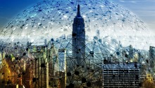 tech bubble over New York City