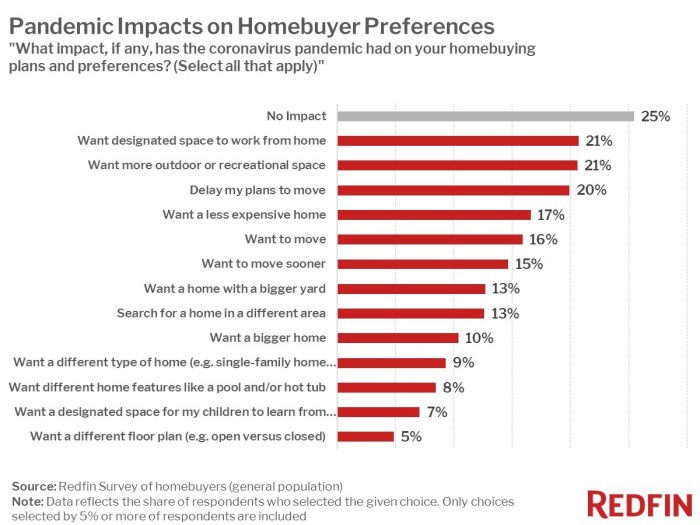 Redfin infographic, Pandemic Impacts on Homebuyer Preferences
