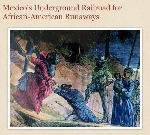 Screenshot of African American - Latino World blog post: Mexico's Underground Railroad for African-American Runaways