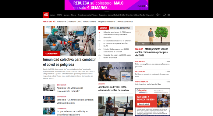 CNN en Espanol website