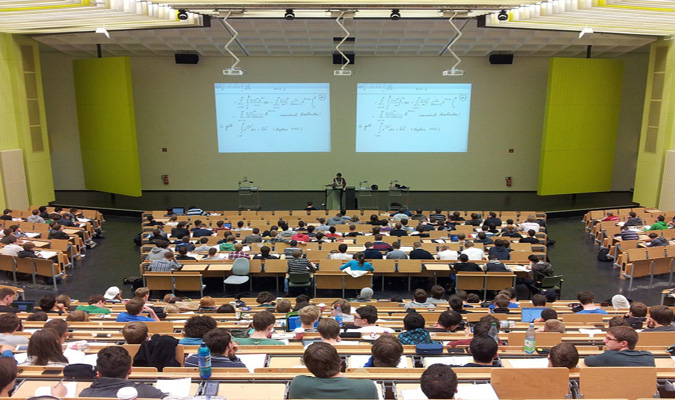photo of students in a university classroom
