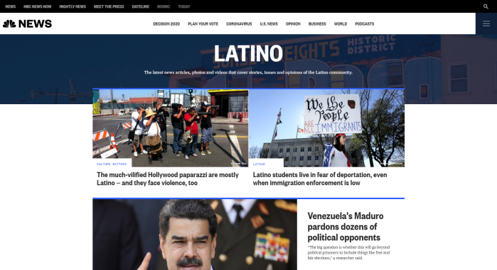 NBC News | Latino website
