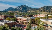 photo of Boulder, Colorado downtown