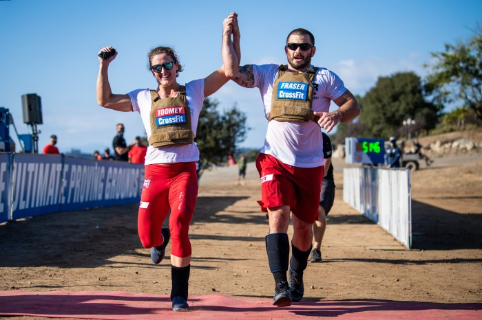 Mat Fraser and Tia-Clair Toomey, winners in the 2020 Reebok CrossFit Games