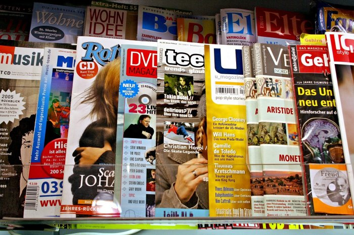 magazine on a newsstand