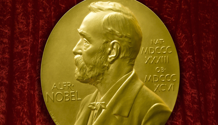 A picture of the Nobel prize