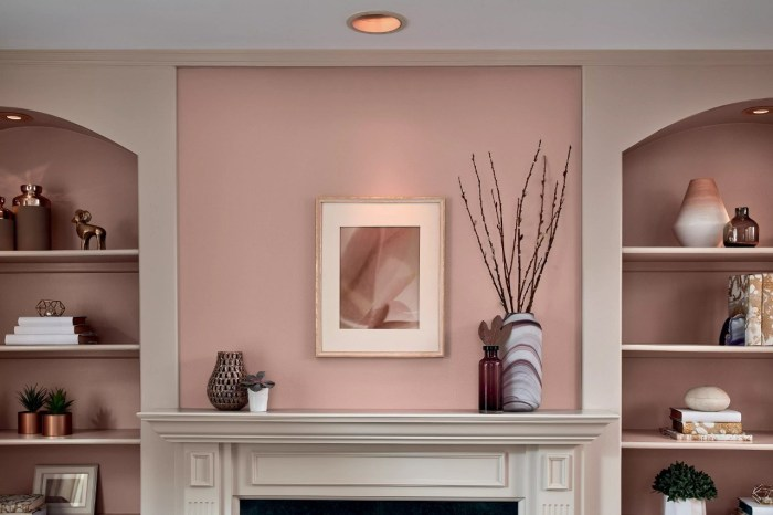 Photo of a living room with Valspar Color of Year, Cherry Taupe