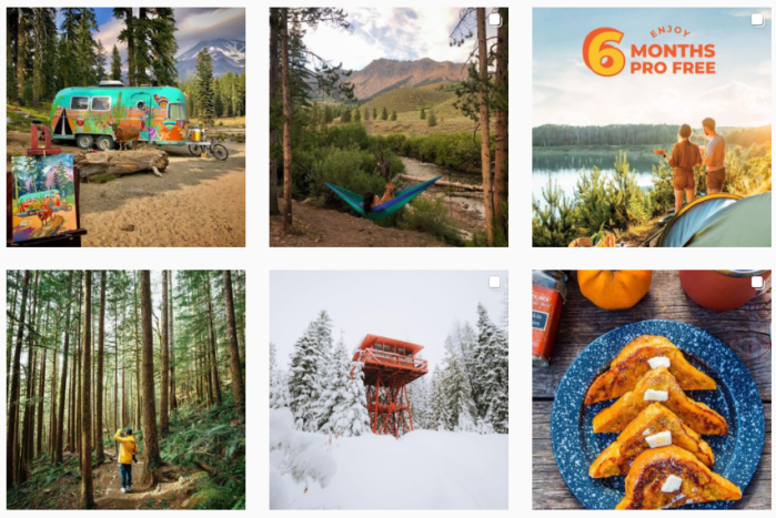 Travel Sites We Love - screenshot of @thedyrt on Instagram