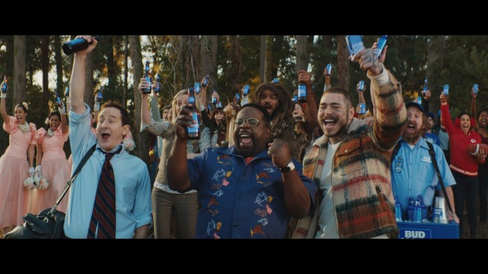 Bud Light Legends Super Bowl commercial screengrab