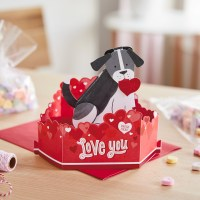 Hallmark Valentine's Day dog greeting card